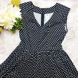 Anthropologie Needle & Thread polka dot dress